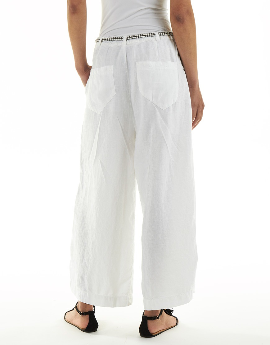 witte stretch broek
